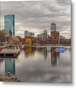 Boston Reflections Metal Print by Linda Szabo