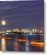 Boston Skyline From Memorial Drive Metal Print by Joann Vitali