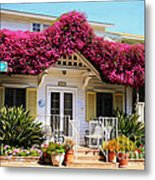 Bougainvillea House Metal Print by Cheryl Young