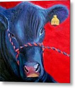 Bovine Intervention Metal Print by Lisa Lea Bemish