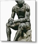 Boxer Seatted. 1st C. Hellenistic Art Metal Print by Everett