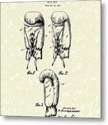 Boxing Glove 1925 Patent Art Metal Print by Prior Art Design