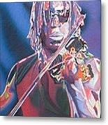Boyd Tinsley Colorful Full Band Series Metal Print by Joshua Morton