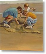 Boys In The Sand Metal Print by Sue  Darius