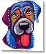 Brad The Labrador Metal Print by Jill English