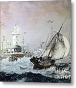 Braving The Storm Metal Print by Lianne Schneider
