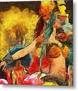 Brazilian Carnival Metal Print by Ayse Deniz