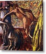 Breakfast After The Bath Le Petit Dejeuner Apres Le Bain Metal Print by Edgar Degas