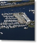 Brewer Yacht Yard, Mystic Metal Print by Dave Cleaveland