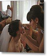 Bride Eyeliner Metal Print by Mike Hope