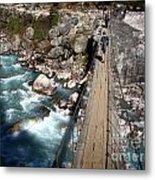 Bridge Crossing Metal Print by Tim Hester
