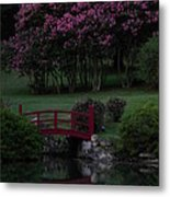 Bridge Over Peaceful Waters Metal Print by Amy Stuart Langlo
