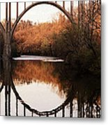 Bridge Over The River Cuyahoga Metal Print by Patricia Januszkiewicz
