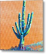 Bright Cactus Metal Print by Greg Wells