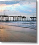 Broken Dreams - Frisco Pier Outer Banks I Metal Print by Dan Carmichael