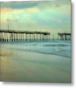 Broken Dreams - Frisco Pier Outer Banks II Metal Print by Dan Carmichael