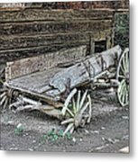 Broken Wagon Metal Print by Victor Montgomery