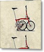 Brompton Bicycle Metal Print by Andy Scullion