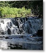 Bronx River Waterfall Metal Print by John Telfer