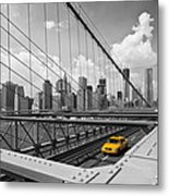 Brooklyn Bridge View Nyc Metal Print by Melanie Viola