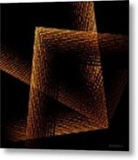 Brown And Black In Lines Metal Print by Mario Perez