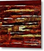 Brown Red And Golds Abstract Metal Print by Marsha Heiken