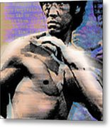 Bruce Lee And Quotes Metal Print by Tony Rubino