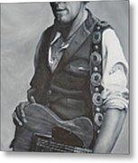 Bruce Springsteen I Metal Print by David Dunne