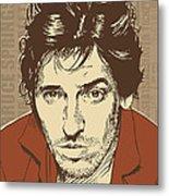 Bruce Springsteen Pop Art Metal Print by Jim Zahniser