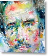 Bruce Springsteen Watercolor Portrait.1 Metal Print by Fabrizio Cassetta