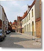 Bruges Side Street Metal Print by Carol Groenen