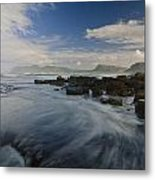 Brushing The Blue Metal Print by Aaron S Bedell