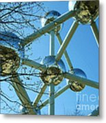 Brussels Urban Blue Metal Print by Ramona Matei