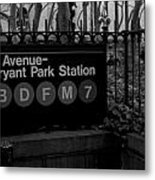 Bryant Park Station Metal Print by Mike Horvath