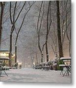 Bryant Park - Winter Snow Wonderland - Metal Print by Vivienne Gucwa
