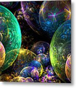 Bubbles Upon Bubbles Metal Print by Peggi Wolfe