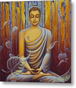 Buddha Meditation Metal Print by Yuliya Glavnaya