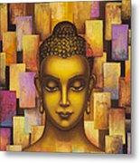 Buddha. Rainbow Body Metal Print by Yuliya Glavnaya