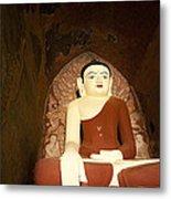 Buddha Statue In Dhammayangyi Paya Temple Metal Print by Ruben Vicente