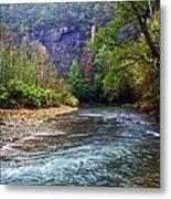 Buffalo River Downstream Metal Print by Marty Koch