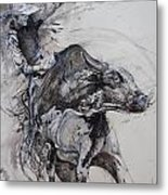 Bull Rider Metal Print by Bob Graham