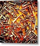 Bunch Of Screws 4 - Digital Effect Metal Print by Debbie Portwood