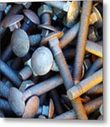 Bunch Of Screws Metal Print by Carlos Caetano