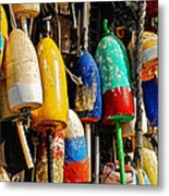 Buoys From Russell's Lobsters Metal Print by Lois Bryan
