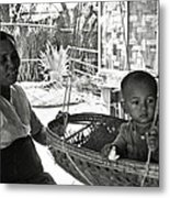 Burmese Grandmother And Grandchild Metal Print by RicardMN Photography