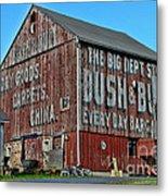 Bush And Bull Roadside Barn Metal Print by Paul Ward