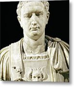 Bust Of Emperor Domitian Metal Print by Anonymous