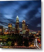 Busy Charlotte Night Metal Print by Chris Austin