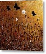 Butterflies Landscape Metal Print by Carmen Guedez