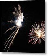 Butterfly And Flower Fireworks Metal Print by Howard Tenke